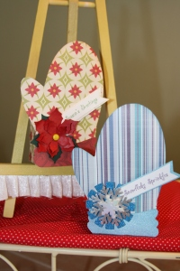 Little mitten treat boxes